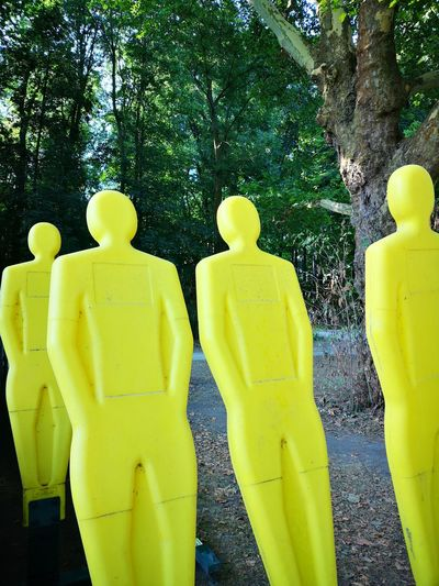 Yellow people Attrape Tree Yellow Side By Side