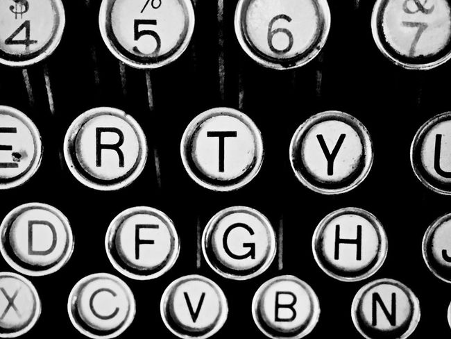 Qwerty Alphabet Antique Backgrounds Close-up Communication Computer Key Day Indoors  Keyboard No People Number Old-fashioned Qwerty Keyboard Qwerty Old-fashion Keyboard Retro Styled Technology Text Typewriter