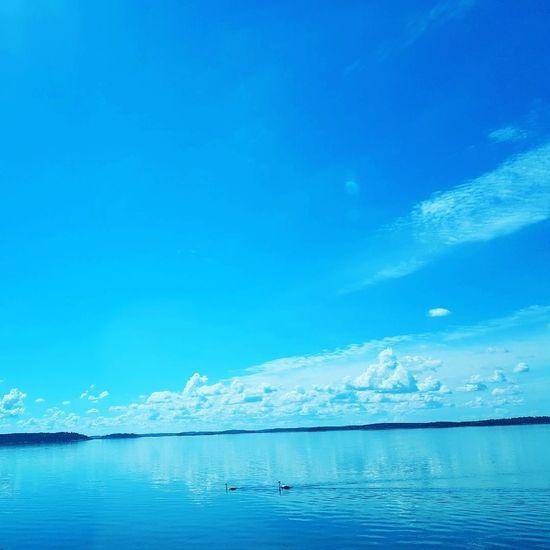 Ocean Ocean View Sunlight Sunshine Sun Landscape Nature Sweden Sky Summer