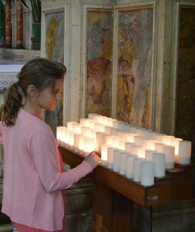 Church Venice Church Candle Illuminated Prayer Candles Prayers Spirituality