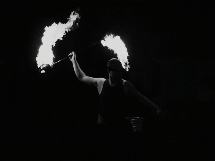 Darkness And Light Light And Shadow Muscles Fireshow Fire Black And White The Amazing Human Body Torches Shades Of Grey Capture The Moment