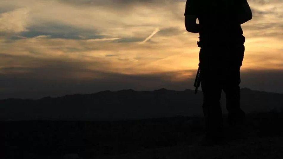 Taking Photos Gun Range Sunset Check This Out