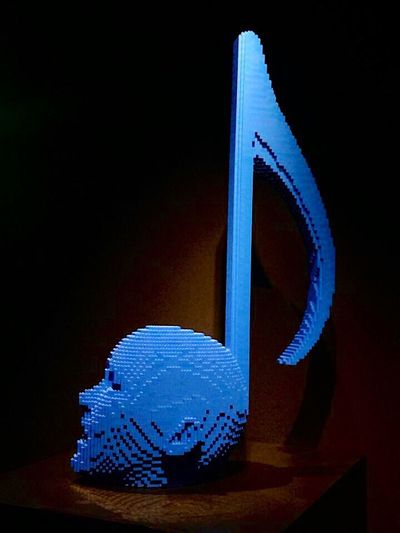"""""""The art of the brick"""" - october 2014 - Amsterdam Expo Blue Close-up Indoors  Black Background Ideas Dark No People Man Made Object LEGO IPhoneography TakeoverMusic"""