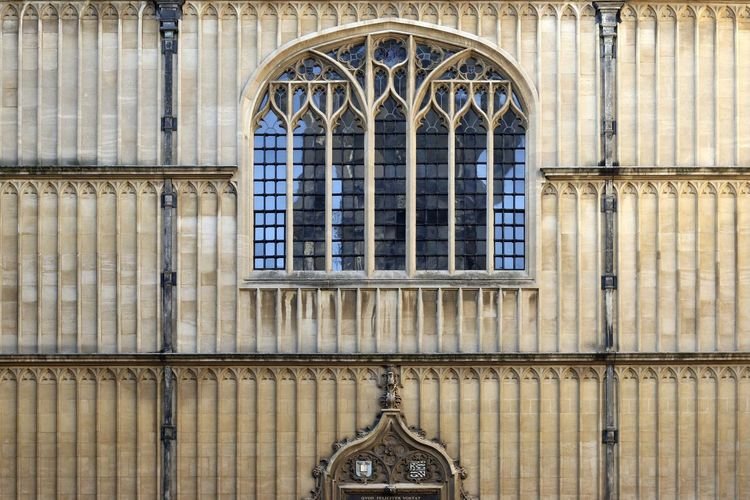 Architecture Day England No People Oxford Oxford University Tudor Tudor Architecture Window Stained Glass Rose Window Full Frame Historic Building