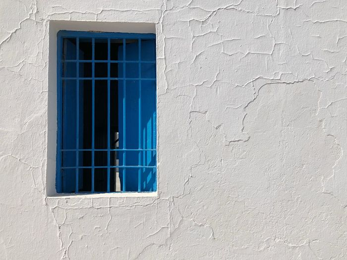 Blue window in