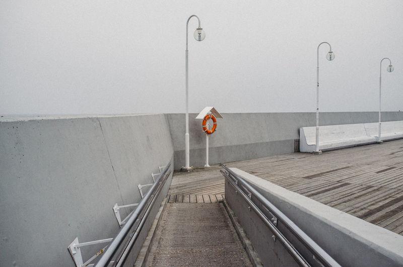 Architecture Baltic Sea Grey Grey Sky Industrail Marina Mini Minimalism No People Orange Orange Color Sea Seaside Sopot