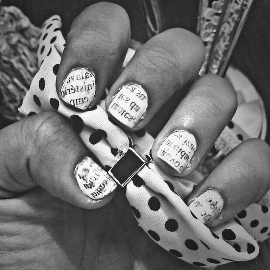 Nails Nailart  Newspaper Nails Nailpolish
