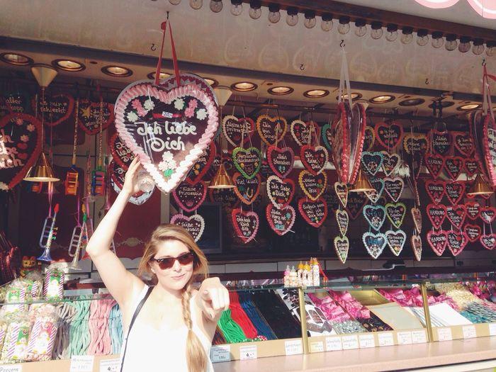 Woman At A Market Stall