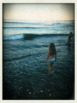 Into the sea, a mermaid i.