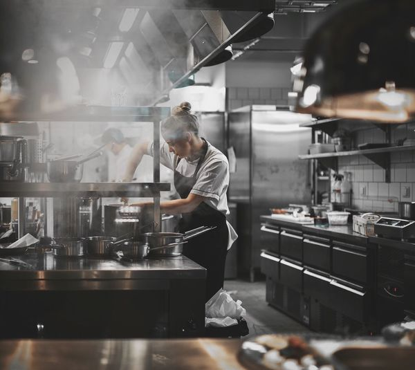 Commercial Kitchen Preparation  Food And Drink Establishment Indoors  Preparing Food Restaurant Real People Chef Working Occupation Food And Drink Industry Looking Down Skill  One Person Expertise Making Food And Drink Standing Uniform Concentration EyeEmBestPics EyeEm Best Shots EyeEm Best Edits EyeEm Gallery The Week On Eyem