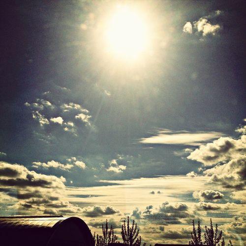 Beautiful sunshine and clouds!