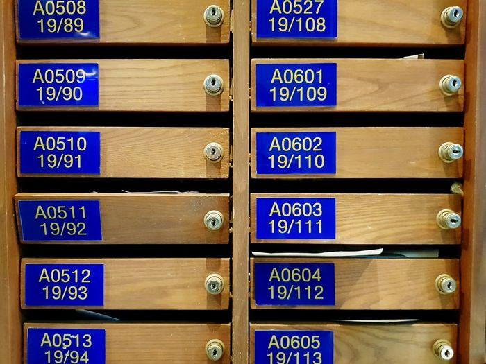 Full frame shot of drawers