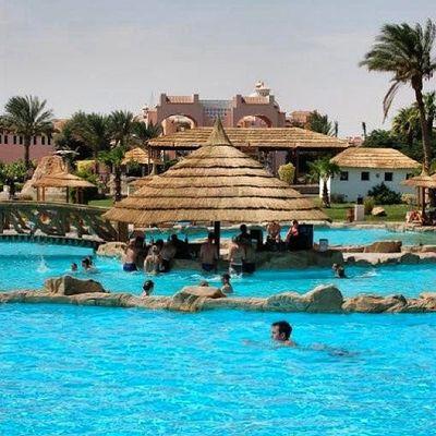 Zurück an die sonnige Poolbar im Beach Albatros in Hurghada Egypt