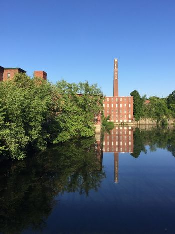 This is another shot from my trip to Nashua last week. The weather was hot but gorgeous! Old Buildings Mill Brick Building Reflection Streetphotography Nashua Morning Walk River Summer River View Mill Building Repurposed New Hampshire IPhoneography Water Reflections
