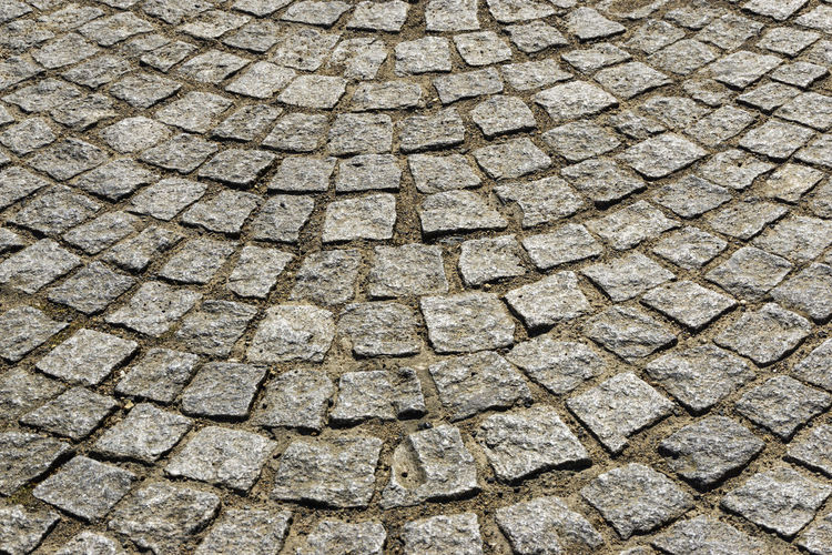 Full Frame Close-Up of Cobblestone Road Berlin Germany 🇩🇪 Deutschland Color Image Horizontal Outdoors No People Full Frame Backgrounds Pattern Textured  Cobblestone Street Footpath Paving Stone Stone Stone Material Solid High Angle View Day City Rough Gray Repetition Textured Effect