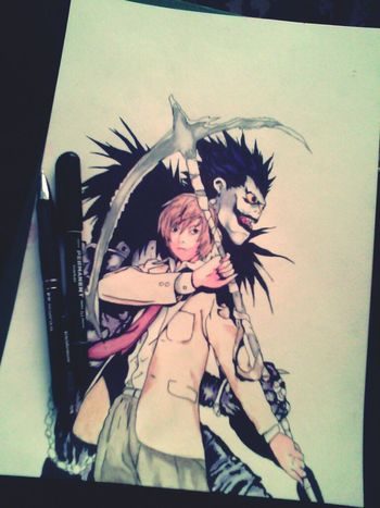 Art Drawing Death Note Watercolor
