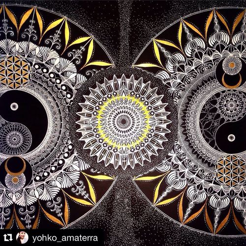 Music of universe ; YohkoAmaterraArt Art Drawing ArtWork 曼荼羅 Mandala My Drawing マンダラ 宇宙 Earth Torus Cosmo Mandalas Geometry Sacred Geometry