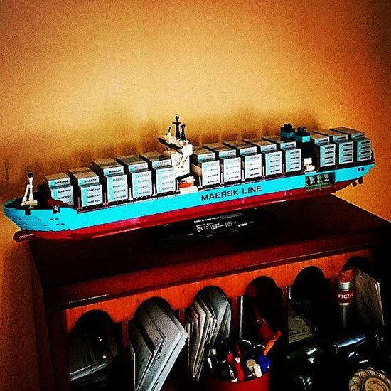 Aparqué el carguero! Legocreator Triplee Maerskline Delagamescom legostore köln toys montado muychulo 50pegatinas xperiaZ1