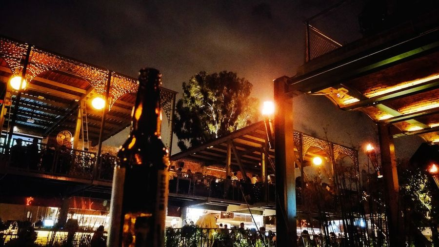 Beer Makes You Hoppy Nightphotography Nightlife Bottled Up Music Night Ambience HUAWEI Photo Award: After Dark Brewerylife Oneplusone Oneplus Nightscape Lights Pub Illuminated City Sky Architecture Built Structure EyeEmNewHere
