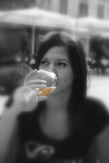 Prosecco Wine Single Color Orange Woman With Glass