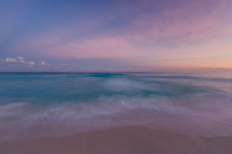 The Perfect dusk. Sea Beach Horizon Over Water Nature Beauty In Nature No People Outdoors Cancun stanlyphoto Water