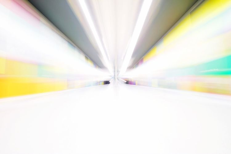 The Way Forward Diminishing Perspective Transportation Road Indoors  No People Illuminated Day Blurred Motion Subway Train Tunnel Futuristic Multi Colored Long Exposure Fast Moving Speed