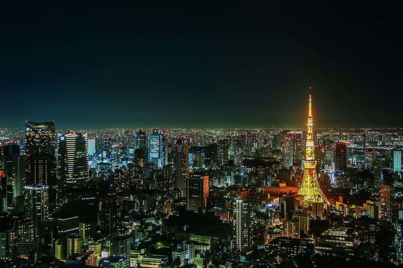 City night view Chengshishangk Cityscape Night Outdoors 东京 城市生活 日本 铁塔