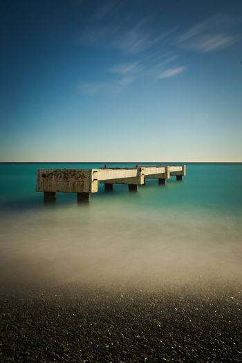 Sky Sea Water Blue Horizon Connection Horizon Over Water Nature No People Architecture Beach Scenics - Nature Long Exposure Land Tranquility Tranquil Scene Bridge Day Outdoors Turquoise Colored Peer EyeEmNewHere