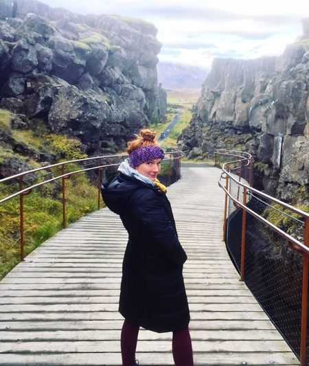 Redhead women walking across a bridge on a overcast day in Iceland. Hike Fog Foggy Beautiful Woman Mountain Range Diminishing Perspective Winter Redhead Looking At Camera Potrait One Woman Only Iceland_collection Bridge - Man Made Structure Overcast Landscapes With WhiteWall Iceland Railing Real People One Person Lifestyles Water Nature Women Leisure Activity Outdoors Architecture Footbridge Mountain Rear View Day It's About The Journey