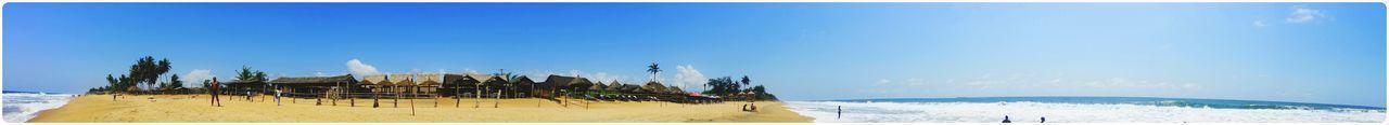 Panoramic view of beach and sea
