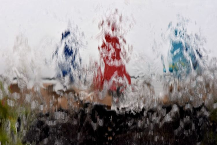 Rainy Day Rain Rainy Days Abstract Caught In The Rain Colorful Umbrellas Water Water In Motion Window View Perspectives On Nature