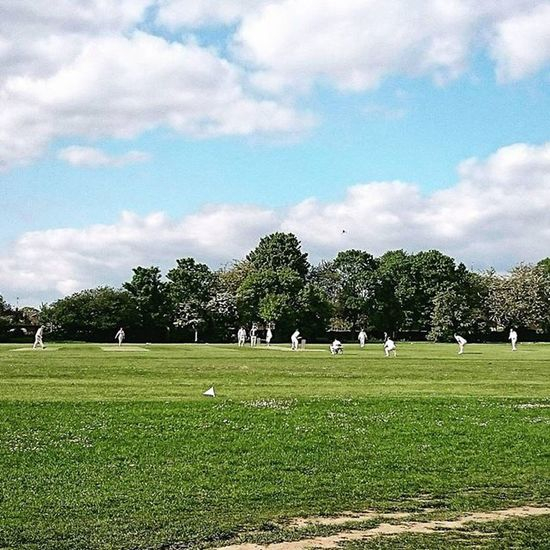 Watching a Cricket match.. Cricket Cricketers Stevenage Hertfordshire KingGeorgeVPark Park Field Sport Match XPERIA XperiaZ3 ICAN Capture Snapshot