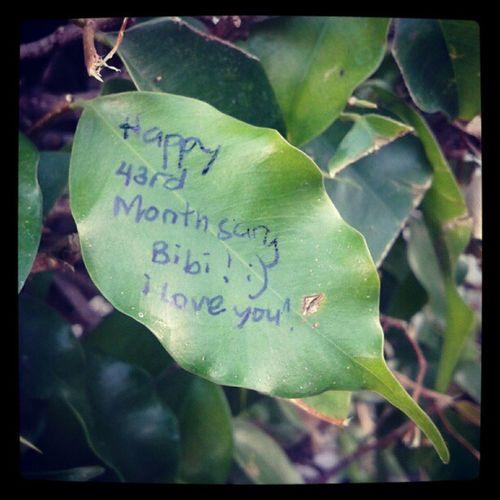 happy 43rd monthsary babe :) Monthsarymessage Monthsarypost Monthsary 43rd love emotion instalove @japsgrande