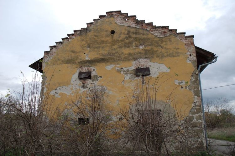 Crying house. Abandoned Architecture Building Exterior Damaged Low Angle View No People Old Ruin Outdoors Ruin Ruined Building