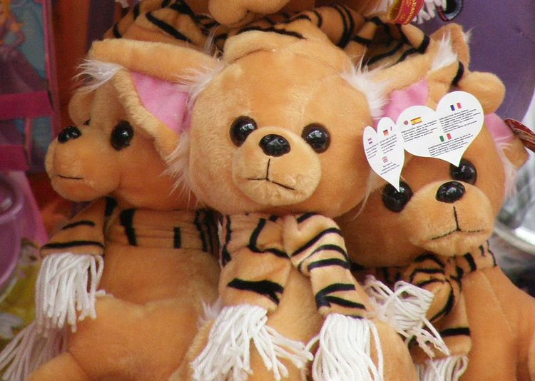 Close-up Day Fair Fairground Attraction For Sale No People Prizes Stuffed Toy Toy Bear Toys