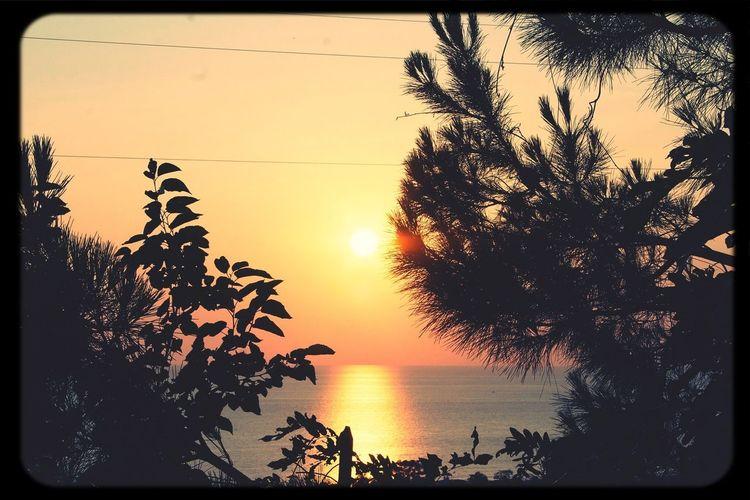 Sunset Nature Sunset #sun #clouds #skylovers #sky #nature #beautifulinnature #naturalbeauty #photography #landscape 25 Days Of Summer