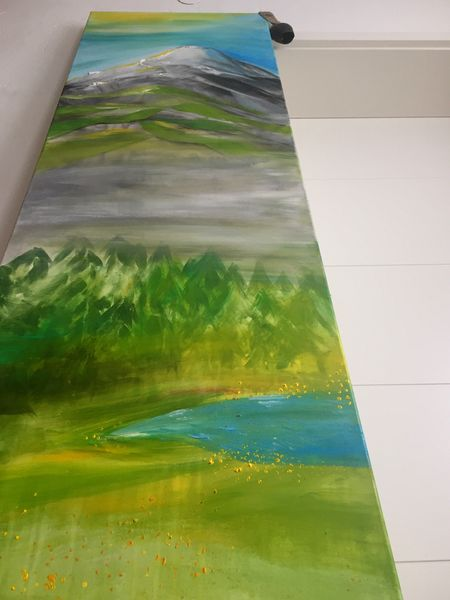 Green Color Multi Colored No People Close-up Indoors  Day Water Acrylic Painting Acrylic Art ArtWork Berge Alpen Grün Frühsommer ❤
