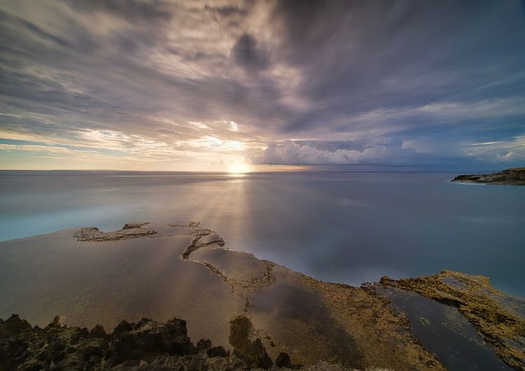 Water Sea Sky Cloud - Sky Scenics - Nature Beauty In Nature Tranquility Tranquil Scene Beach Land Nature Sunset Idyllic No People Reflection Horizon Over Water Outdoors Sand Horizon Lagoon