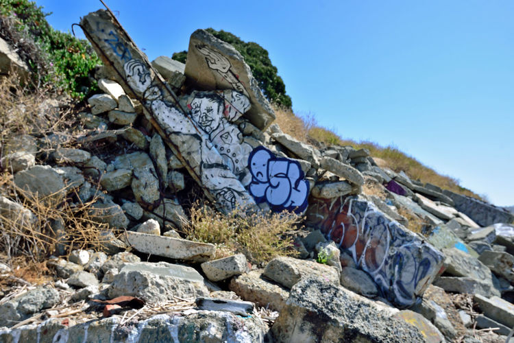 The Albany Bulb 14 Albany, Ca. Waterfront Peninsula Former Landfill San Francisco Bay Eastern Shore Dump For Contruction Materials Concrete Debris A Home For Urban Artists An Anarchical No Man's Land Outsider's Art Sculptures Out Of Waste Murals Graffiti Artists The Bulb Bum's Paradise Movie 2003 Shoreline Rough And Rugged Landscape Hillside Tagging Landscape_photography Landscape_Collection