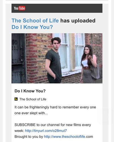 Ouch... Painful to watch. http://youtu.be/oGNg0FlSQAk School Of Life Alain De Botton