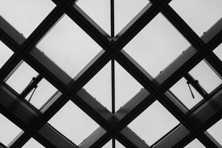 Low angle view of skylight against sky