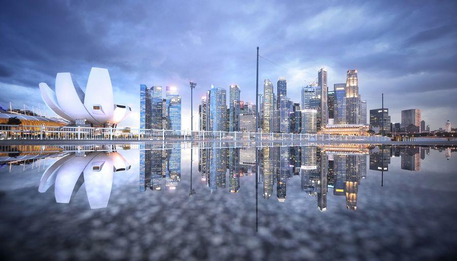 Panoramic view of modern buildings
