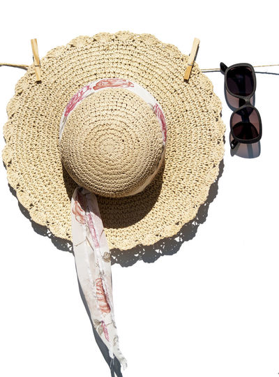 Clothes Pegs EyeEm Best Shots EyeEmNewHere Fashion Hat Hollidays Isolated Summertime Accessories Close Up Close-up Clothespin Concept Conceptual Day No People Outdoors Pin Protection Straw Hat Straw Hat Close Up Studio Shot Summer Sun Glasses Sun Hat Sun Protection Sunglasses White Background Woman Accessories