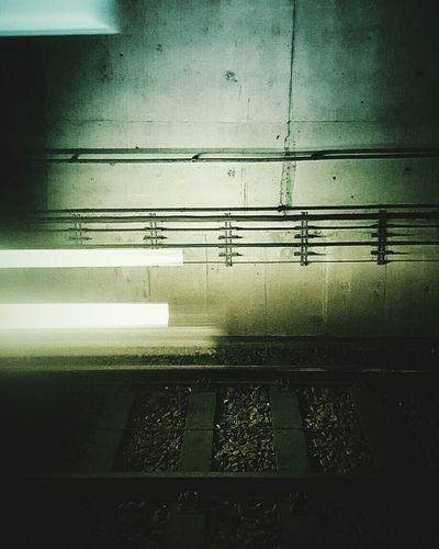 """Night train"" Rails Subway Train Shingle Powerline Powerlines Spitlight Lights Gray Speed Coment Threshold Metro Metropolis Belanglose Bilder Unaffected Images"
