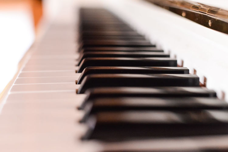 Acoustic Piano Keys 50mm F1.8 Keys Nikon D600 Piano Acoustic Piano Blur Close-up Day Depth Of Field Dof Full Frame Hobbies Indoors  Instrument Music Musical Instrument No People Piano Piano Key Selective Focus