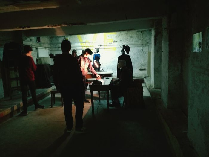 Darkroom People Mysterious Secret Places Underground Night Togetherness Investigation Papers Kids