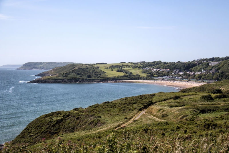 Langland Bay Langland Bay Swansea Swansea Bay Beach Beauty In Nature Clear Sky Day Horizon Over Water Landscape Lava Mountain Nature No People Outdoors Scenics Sea Sky Water