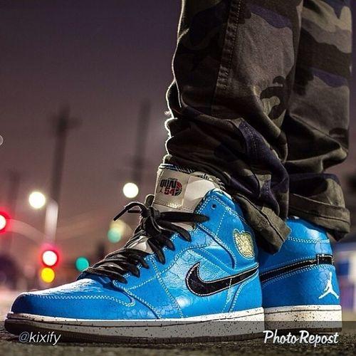 "by @kixify ""Kixifylife @gortiz01 takes a smooth shot of @yashasosa in the Air Jordan 1 ""Quai 54"""" via @PhotoRepost_app"