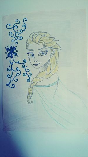 My Drawing of Snow ❄ the snow queen Elsa Frozen Let It Go Relaxing France Open Edith Portrait First Eyeem Photo