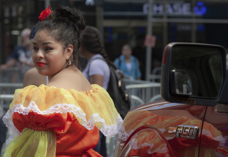 Mexican Day Parade NYC 9_16_2018 Woman in Traditional Dress Mexican Day Parade NYC 9_16_2018 Woman In Traditional Dress Ethnic Attire Ethnic Pride Mexican Woman Traditional Dress